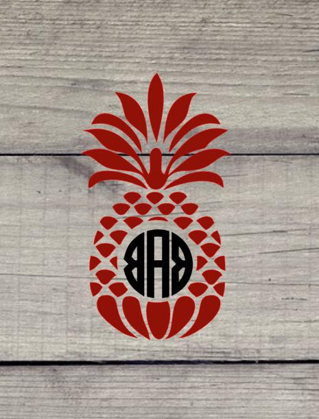 Pineapple with decal for car, laptop, cell