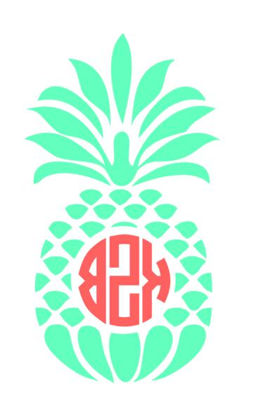Pineapple monogram cell and MORE