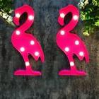 BRIGHT ZEAL Set of 2 Pink Flamingo LED Marquee Signs with Li