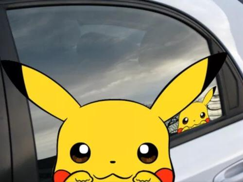 "Pokemon Pikachu Anime 7"" Window Car Decal, Sticker, Pokemon"