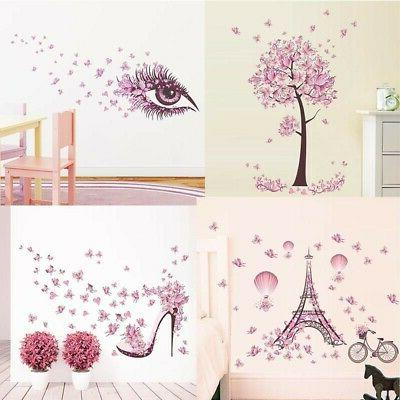 USA Removable Tree Butterfly  Wall Stickers for Kids Rooms H