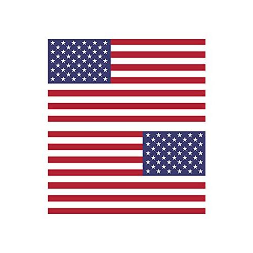 reverse and forward facing american flag stickers