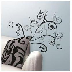RoomMates RMK2083SCS Music Scroll Notes Peel and Stick Wall