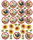 WALLIES ROOSTERS & SUNFLOWERS wall stickers 38 decals room d