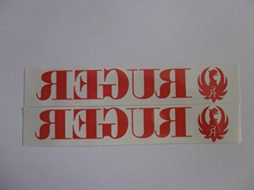 ruger red on white vinyl decal weather