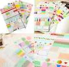 6pcs/SET Transparent Calendar Scrapbook Diary Book Decor Pap