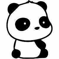 "Panda Peeking 14/"" Vinyl Decal Car Window Sticker bumper funny cute pandas"