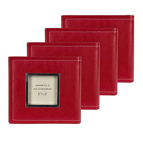 sleek faux leather red photo