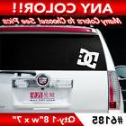 """DC SHOES"" SOLID LARGE REAR WINDOW DECAL STICKER 8""w x 7""h"