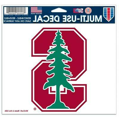 Stanford Cardinal Official NCAA 4 inch x 6 inch decal by Win
