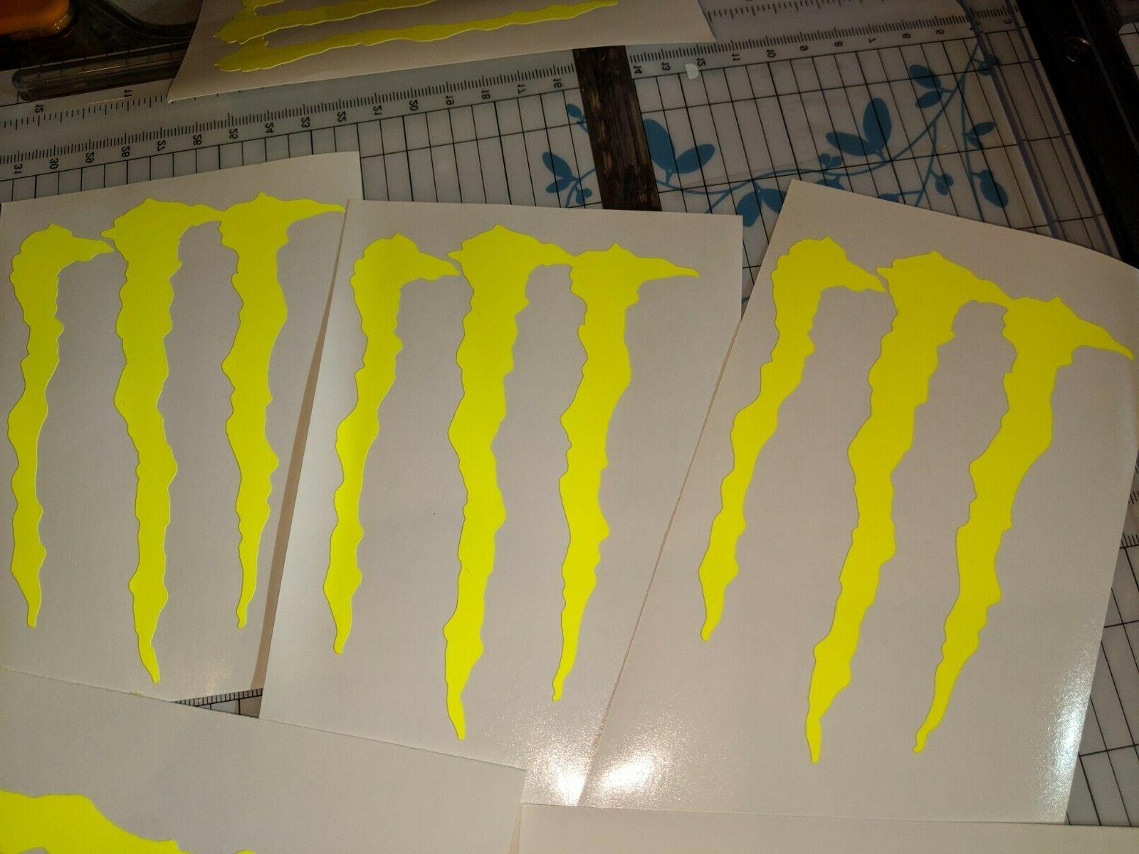 MONSTER ENERGY many colors M-CLAW STICKERS BRAND