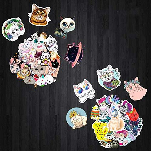 Homyu Stickers 50-Pcs Decals Cute Animal Stickers Cars Motorcycle Ipad