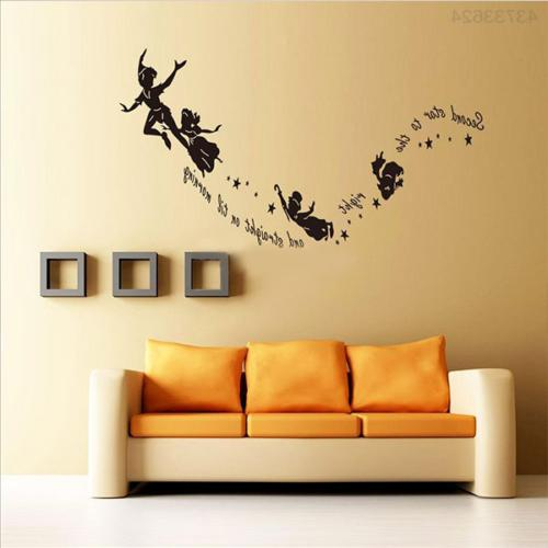 Tinkerbell Star Peter Pan DIY Wall Stickers Decal Kids Room