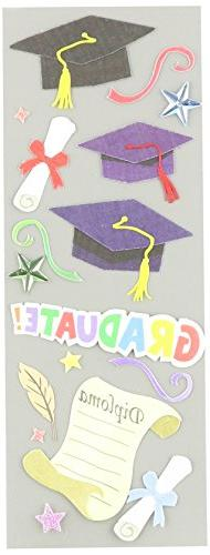 Touch Of Jolee's Dimensional Sticker-Graduation