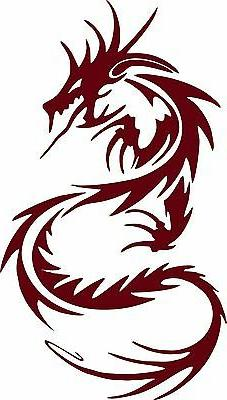 Tribal Dragon Serpent Car Truck Tattoo Window Laptop Vinyl D
