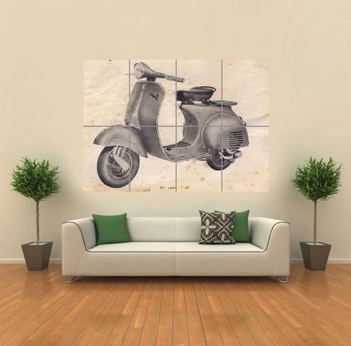 vintage vespa scooter drawing giant