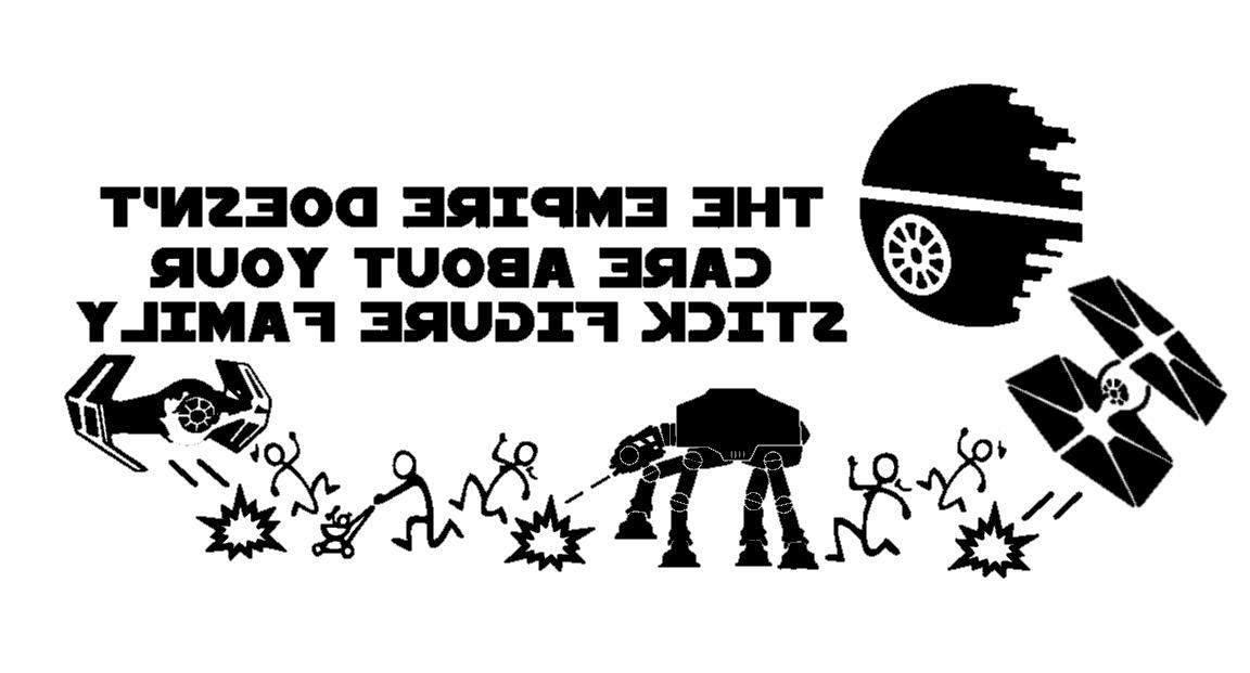 Star Wars The empire stick figure family Decal Laptop Car Wa
