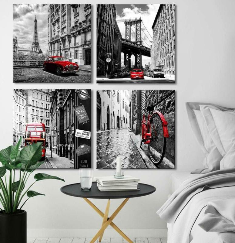 Wall Home Decor Pieces Framed Red Pictur