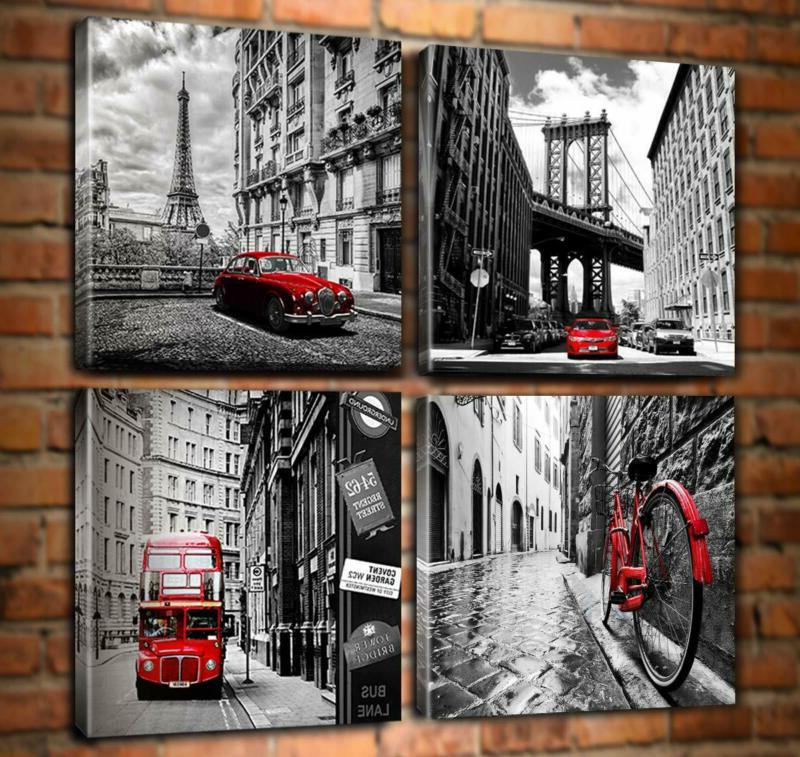 Wall Art Prints Home Decor Posters Pieces Red Pictur