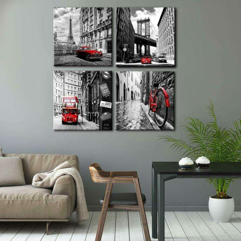 Wall Art Prints Home Pieces Black Red Pictur