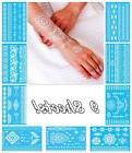 White Temporary Tattoos for Women Teens Girls - 9 Sheets Hen