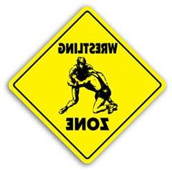 WRESTLING ZONE -Sign- novelty gift sport wrestler