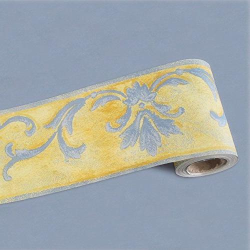 simplelife4u yellow wallpaper border self adhesive wall covering