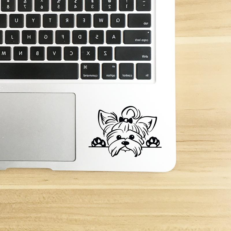 Yorkshire <font><b>Decals</b></font> Decor , Puppy Yorkie Dog Breed <font><b>Decal</b></font> Cup Laptop