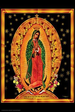 Our Lady of Guadalupe Quote Religious Art Poster 12x18
