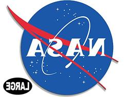 American Vinyl Large NASA Meatball Logo Shaped Sticker