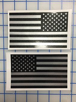 I Make Decals™ - Larger Ghosted US American subdued flag,