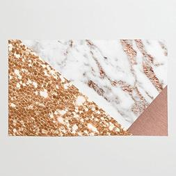 Society6 Layers Of Rose Gold Rug 3' x 5'