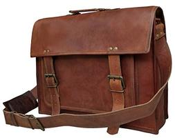 18 Inch Leather Messenger Bags For Men Women Mens Briefcase