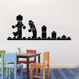 LEGO EVOLUTION Kids Wall Decal Sticker Quote DIY Vinyl Home