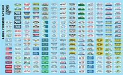 GOFER RACING LICENSE PLATE WATER SLIDE DECALS FOR 1/24 AND 1
