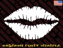 Lips Kiss vinyl decal sticker for wall car laptop many color