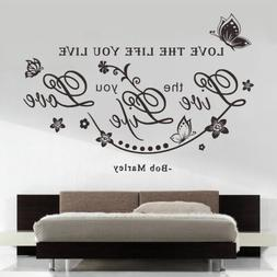 Love the life you live Quote Wall Sticker Decal Home Room De