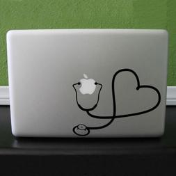 For Macbook Heart Wall Nurse Home Decal Stethoscope Decal St