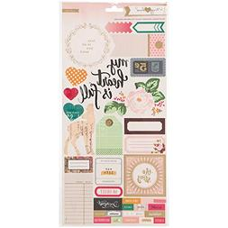 """Maggie Holmes Open Book Cardstock Stickers 6""""X12"""" 2/Sheets-A"""