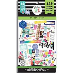 MAMBI Happy Planner FAITH STICKER BOOK 30pgs 621pc Faith,Bel