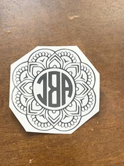 Mandala Monogram Decal I Personalized Decal I Yeti Cup Decal