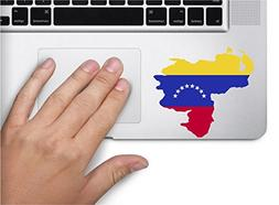 Map with flag inside Venezuela 3x3.4 inches sticker decal di