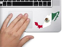 Map with flag inside Mexico 4x2.8 inches sticker decal die c