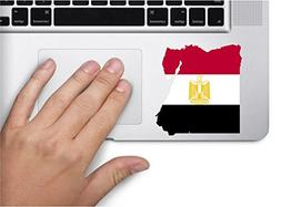 Map with flag inside Egypt 3x3.2 inches sticker decal die cu