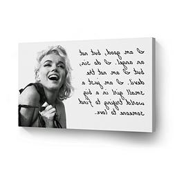 Marilyn Monroe Quotes 'I`m Good but not an Angel' Canvas Pri