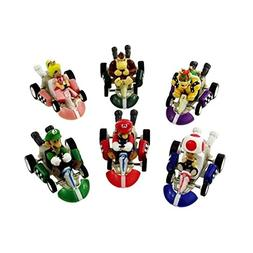 Max Fun 6pcs Mario Kart Cars Pull Backs Figure Set