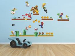 Mario super mario bros Luigi Decal WALL STICKER Decor Art De