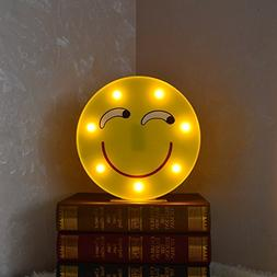DELICORE Marquee Emoji Sign Funny LED Table Lamps Night Ligh