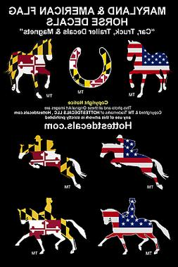 MARYLAND HORSE DECAL Car Sticker MAGNET JUMPING TROTTING DRE