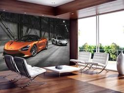 McLaren 720S Sports Car Wallpaper Woven Self-Adhesive Wall M